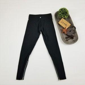 Lululemon Wunder Under black zipper leg leggings